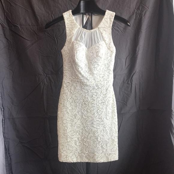 City Triangles Dresses Juniors White Lace Formal Dress Poshmark